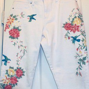 Nanette Lepore Pants - Nanette Lepore Embroidered Jeans